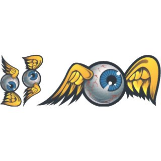 Old School Eyeball Aufkleber Set Decal Helm Bike Hot Rod