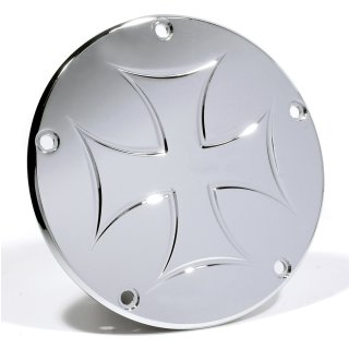 Clutch Derby Cover Iron Cross Malteser for Harley Davidson Twin Cam 1999 - 2017