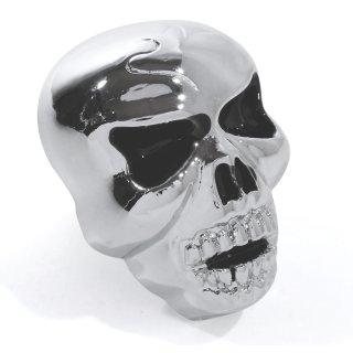 Big Skull license plate screws with black eyes XL