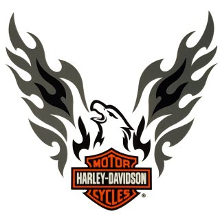 Harley Davidson Adler Fenster Aufkleber 7x7cm Eagle Window Decal Windshield HD