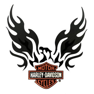 Harley Davidson Sticker XL Eagle Phoenix Bar + Shield Logo Decal 29 x 27 cm