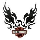 Harley Davidson XL Aufkleber Adler mit Bar + Shield...