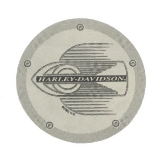 Harley Davidson Chrom Plakette Aufkleber 7cm Flaming Wheel Chrome Decal Rund