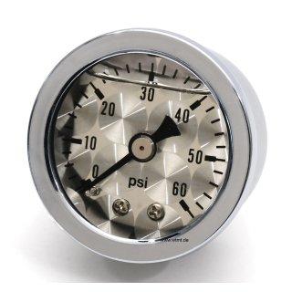 Oilpressure gauge with grey face