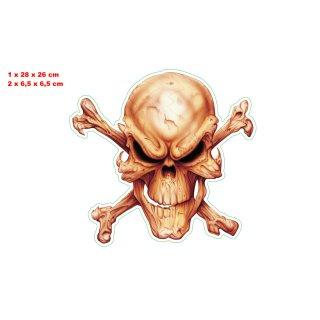 MR. Bones Skull XL Decal