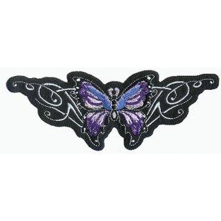 Aufnäher Lila Schmetterling 16x6 cm Purple Butterfly Patch
