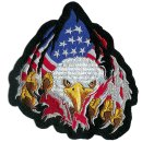 USA Adler Kopf Aufnäher 14x14cm Rip N Tear Eagle Patch...