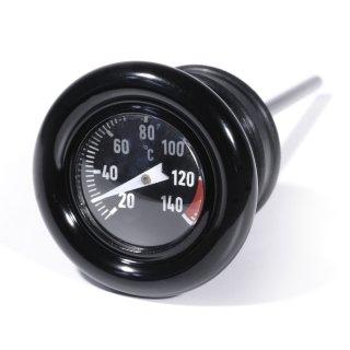 Black Oil dipstick with Temperature Gauge for Harley Davidson Softail - 1999 Sportster -2003