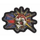Aufnäher Wilder Punk Totenkopf 12x9 cm Crazy Skull...
