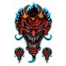Aufkleber Set Teufels Zombie Devil Sticker Airbrush...