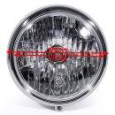 "7"" Headlight Chrome H4 Clear Lens Custom for Harley Davidson Softail Universal"