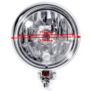"4½"" Headlight Chrome Clear Glass Lens fits Harley Chopper Custom Universal ECE"