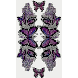 Aufkleber Set Lila Schmetterling Glitter Sticker Purple Butterfly Tank Deko