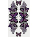 Aufkleber Set Lila Schmetterling Glitter Sticker Purple...