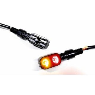 3 in 1 LED Rücklicht Bremslicht Blinker Multifunktion schwarz Motorrad Universal