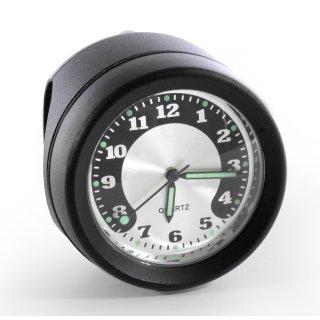 Lenkeruhr Metall schwarz Big Uhr großes Ziffernblatt für Harley Suzuki Honda BMW