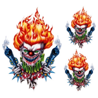 Gun Toting Clown Decal Set