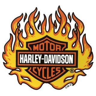 Harley Davidson Flammen Aufkleber 10 x11cm Bar + Shield Flame Decal HOT