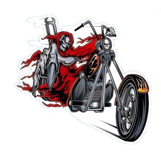 Aufkleber Set Sensemann mitTotenkopf auf Chopper 11x13cm Reaper Decal Airbrush
