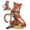 Perfektes Pin Up Girl Aufkleber Purr Fect Decal Sexy...