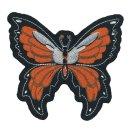 Oranger Schmetterling Aufnäher 9x10cm Butterfly...