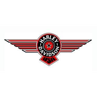 Harley Davidson Fenster Aufkleber 35 x14 cm window decal Sticker Fat Boy XXL