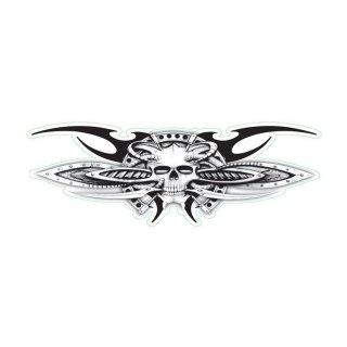 Aufkleber Decal Biomechanical Center Skull Totenkopf Tattoo Vorlage Cool Sticker