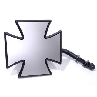 Spiegel Malteser Eisernes Kreuz Iron Cross Schwarz Black für HD Harley Chopper