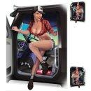 Aufkleber Set Trucker Babe LKW Sexy Pin Up Girl Schwarz...