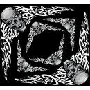 Aufkleber Set Totenkopf Tribal Corner Skull Tattoo LKW...
