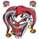 Aufkleber Set Jester Head Gemeiner Jocker Sticker Set...