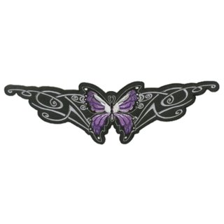Lila Schmetterling Aufnäher 30x9 cm Purple Tribal Butterfly Patch Rücken Jacke