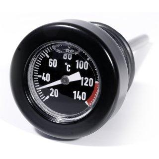 Öl Mess Peilstab Schwarz Celsius Temperatur Thermometer f Harley Davidson ab 99-