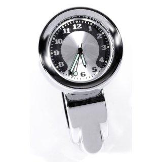 Lenker Uhr Metall gefräst Chrom Big Motorrad Uhr Zifferblatt groß Lenkerklemme
