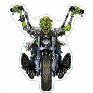 Aufkleber Zombie Chopper Sticker Grausam Eckelig 7 x 6 cm Motorrad Helm