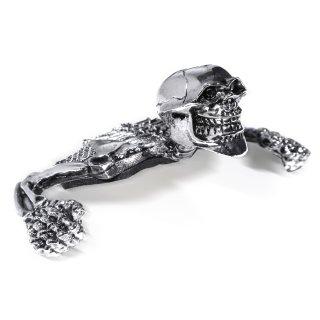"""Totenkopf Ornament Skull Skelett für 4""""- 5¾"""" Scheinwerfer Harley Suzuki Honda Chopper"""