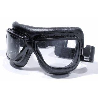 Motorradbrille Fliegerbrille Goggle Schwarz Skibrille Cabrio Oldtimer Sport