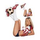 Aufkleber Pin Up Girl Fußball Rot Weiß sexy...