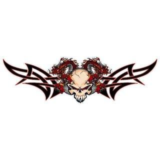 Drachen Totenkopf Aufkleber Dragon Skull Decal Airbrush Tattoo Tank Auto Dodge