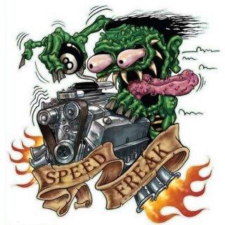 Aufkleber Speed Freak Monster Geschwindigkeitsfanatiker Sticker Hot Rod