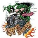 Aufkleber Speed Freak Monster Geschwindigkeitsfanatiker...