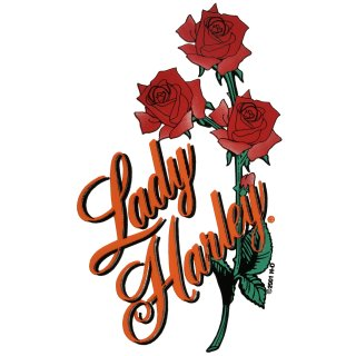 Harley Davidson Aufkleber Rosen Lady 6 x 4 cm Roses Decal Sticker Rot Grün Helm
