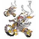 Motocross Skelett Enduro Totenkopf Skull Aufkleber Set...