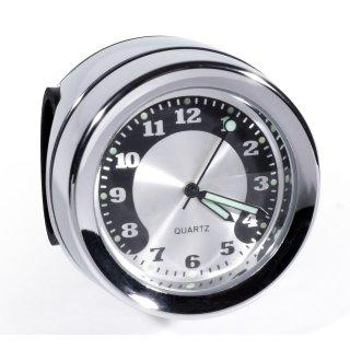 Lenkeruhr Metall Chrom Big Motorrad Uhr großes Zifferblatt f. Harley Honda BMW