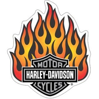 Harley Davidson Flammen Aufkleber XL 22x19cm Flames Decal Helm Tank Windshield