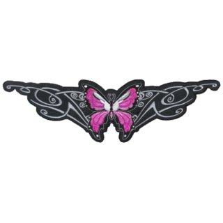 Aufnäher Patch Pink Butterfly Rosa Schmetterling 30x9 Rücken Jacke Lethal Threat