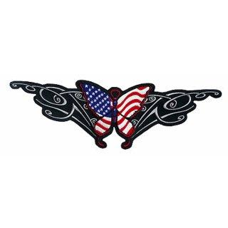 USA Tribal Schmetterling Aufnäher 31x10cm Butterfly Patch Rücken Jacke Weste Neu