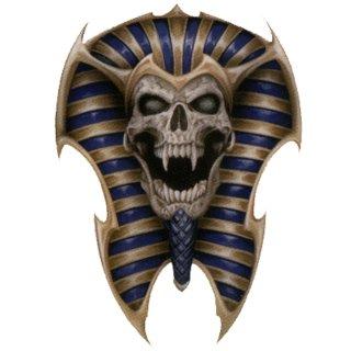 Aufkleber Skull of Tut Totenkopf Schädel Ägypten 10 x 6,5 cm Decal Airbrush Helm