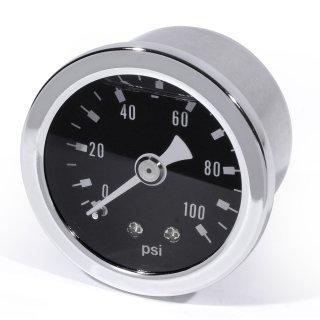 Öldruckmanometer Öldruckanzeige schwarz - 100 PSI 6 Bar Motorrad Auto Performance
