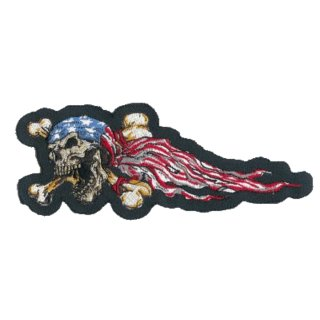 USA Totenkopf Aufnäher Links 18x7 cm Skull Left Patch